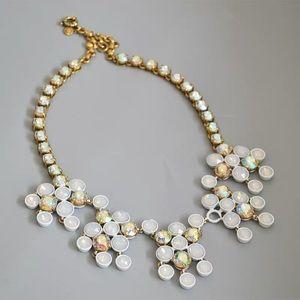 🌿🌿J. Crew White Brulee Cluster Necklace